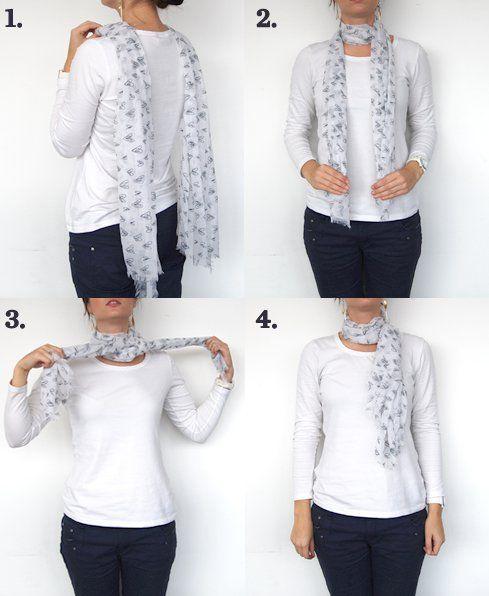 O nó francês para um lenço