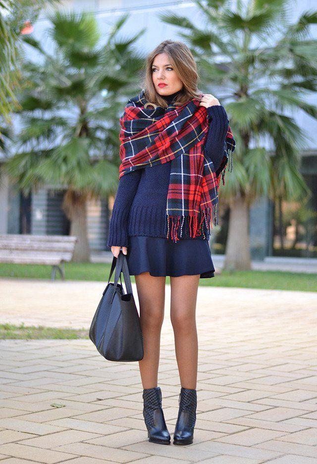 Idea Outfit na moda com um lenço da manta