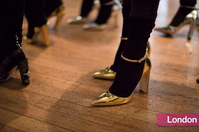 Tendências de sapatos elegantes de semana nova york fashion
