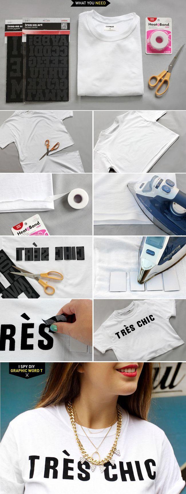 Palavra DIY Gráfico T-shirt