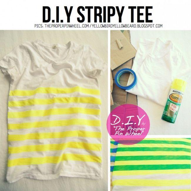 DIY Stripy T-shirt