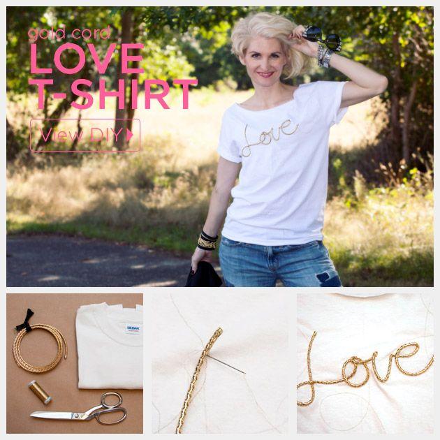 Cordão de ouro do amor T-shirt