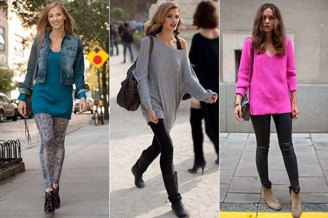 Blusas para usar com leggings - para a aparência final do inverno!