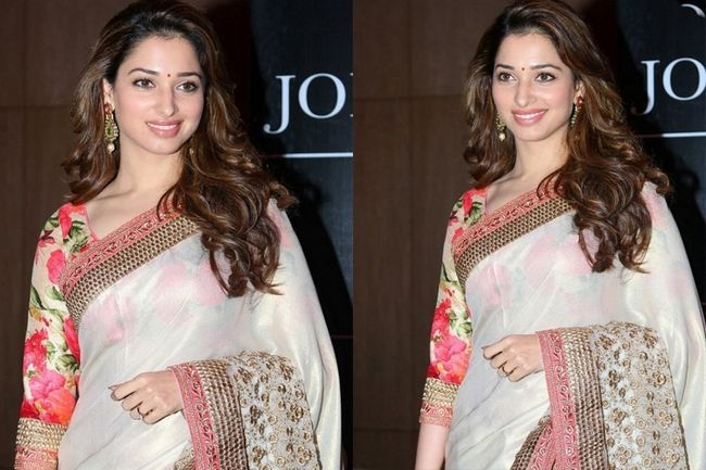 Tamannaah bhatia nos mostra como tirar um sari de monótono a fab!