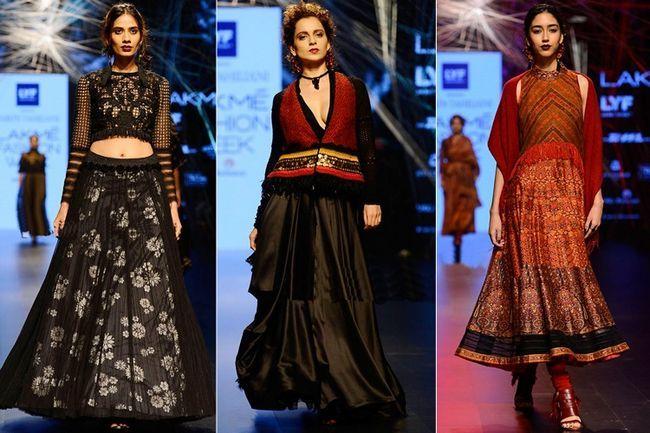 A coleção de tarun tahiliani dá um começo impressionante para a moda lakme semana 2016