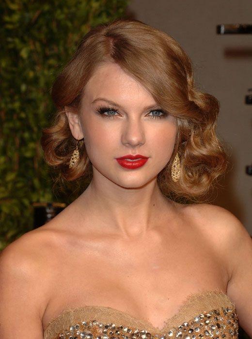 Taylor Swift Cabelo - Retro ondulado Mid-comprimento Penteado