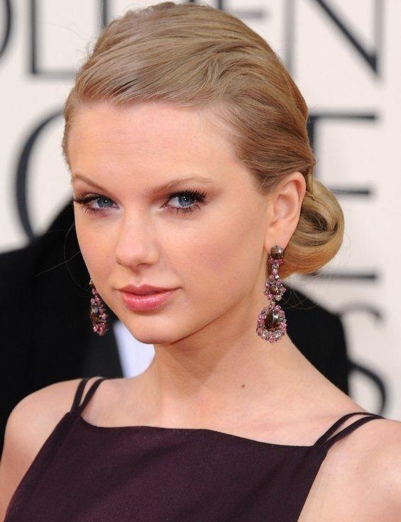 Taylor Swift Cabelo - Elegante Up-do penteado