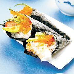 Rolo temaki (em forma de cone sushi)