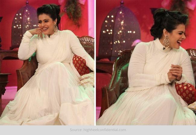 O kajol sempre tão elegante no shantanu e nikhil
