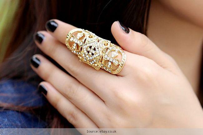 Os anéis da forma de dedos completos