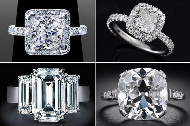 Cortes Anel de diamante