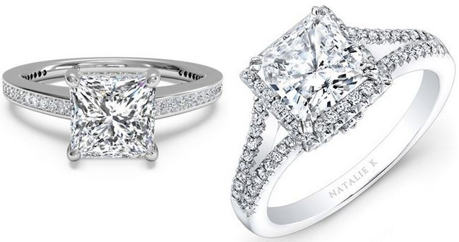corte da princesa anel de diamante