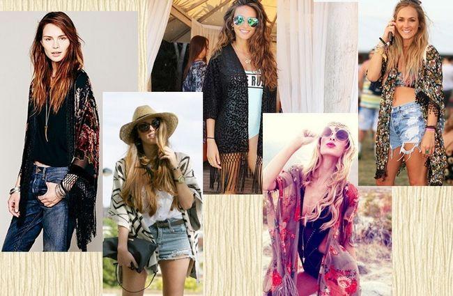 O kimono - moda bater para o verão indiano