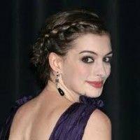 Anne Hathaway: o penteado Elegent francês Braid