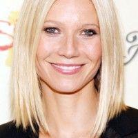 Gwyneth Paltrow: Long angular reta penteado Bob Blond