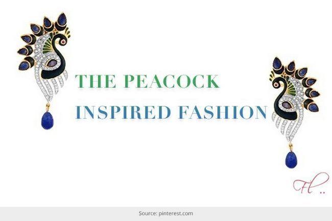 O pavão inspirou moda