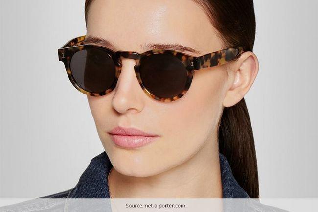 Os óculos de sol concha de tartaruga é a única forma que importa agora