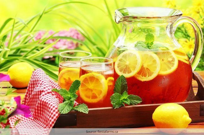 Para saciar a sede receitas de chá gelado