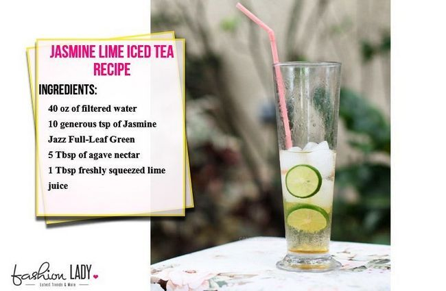 Receita Jasmine Lime Iced Tea