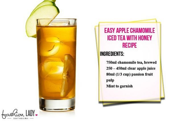 Fácil de Apple camomila Iced Tea com Mel Receita