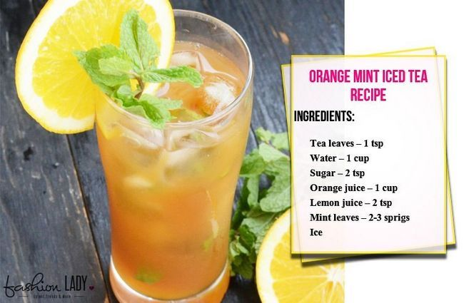 Receita de laranja Mint Iced Tea