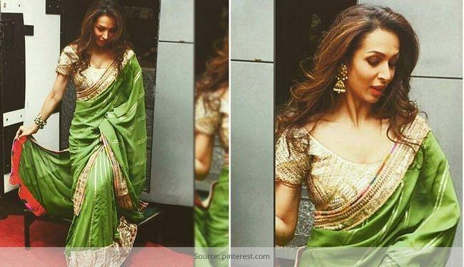 Isto é como você balançar as senhoras saree - como malaika arora khan