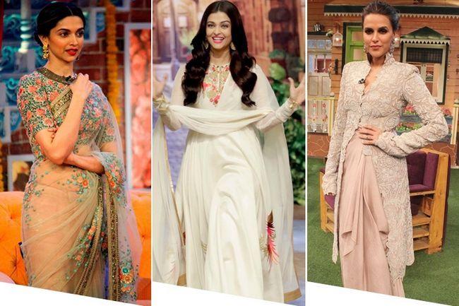 Top 10 looks mais bem vestidas no show de comédia sharma kapil
