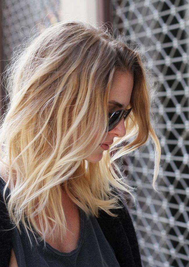 Ondas Ombre bonitas para cabelo na altura dos ombros
