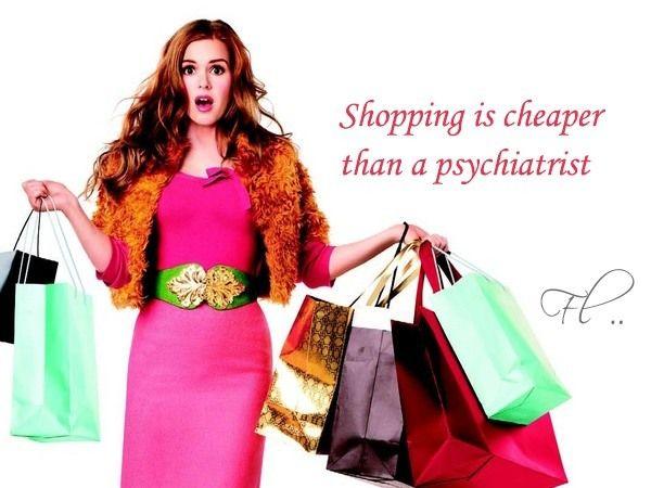 shopping é mais barato do que o psiquiatra