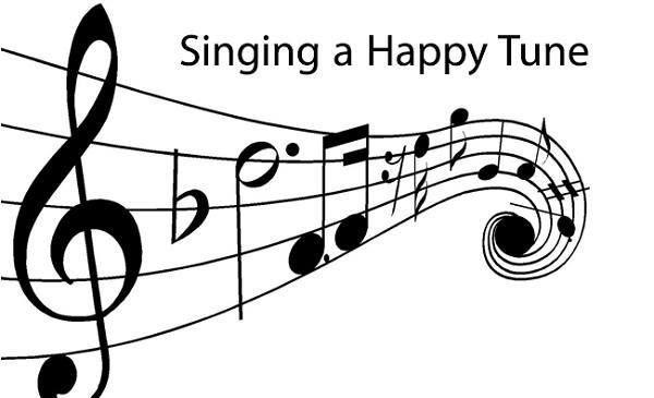 cantando uma música feliz tornar o seu dia