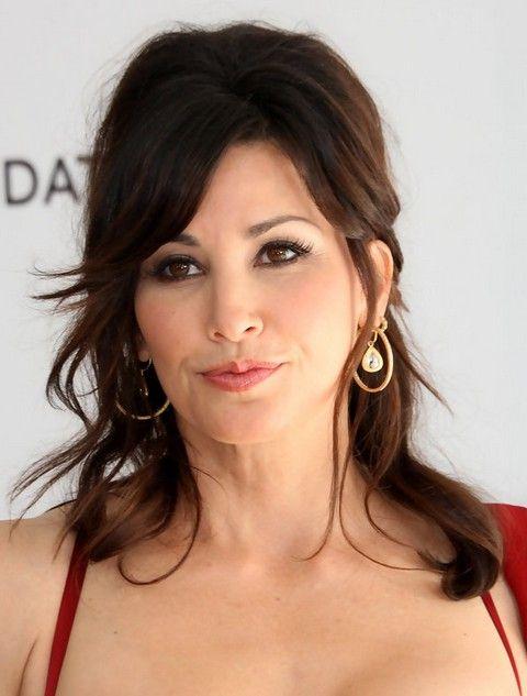 Gina Gershon Penteados: Beautiful Meio-up Half-baixo