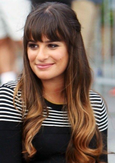 Lea Michele Penteados: Cute Half-baixo Half-up