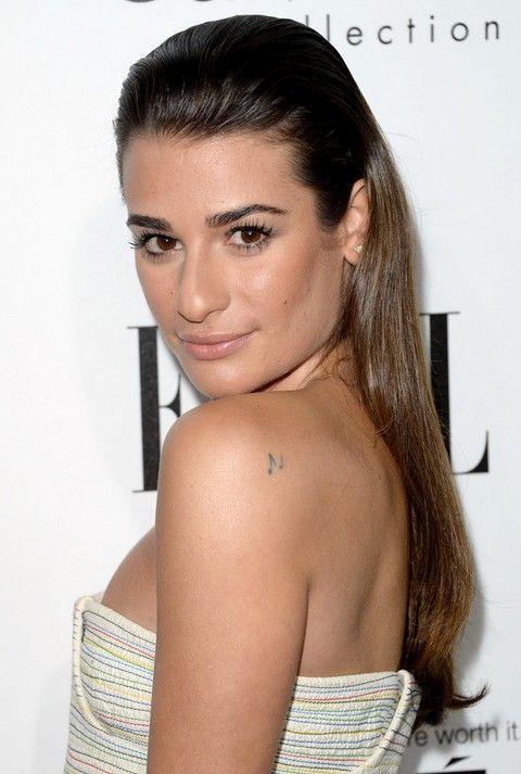 Lea Michele Penteados: Trendy Meio-up Half-baixo Penteado