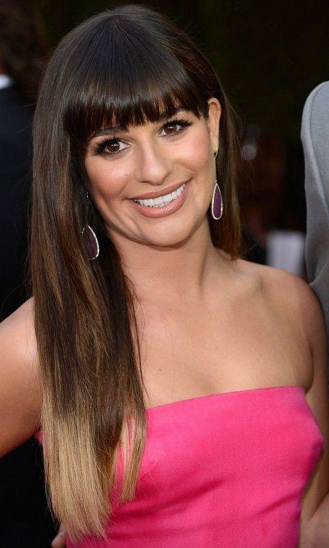 Lea Michele Penteados: Cabelo Ombre