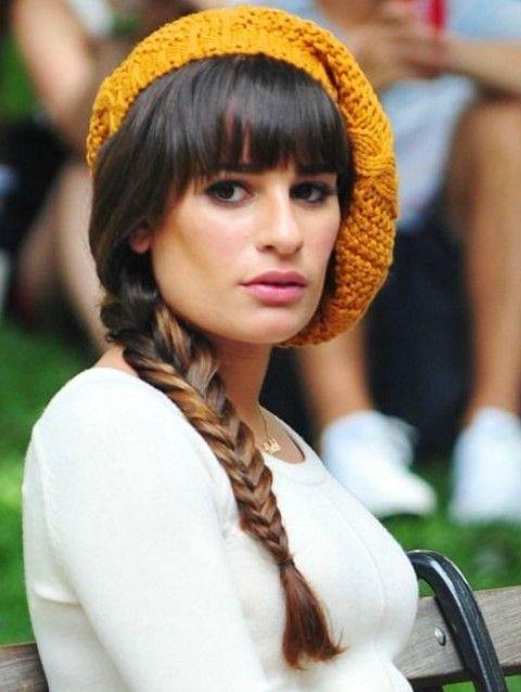 Lea Michele Penteados: Braid Sleek