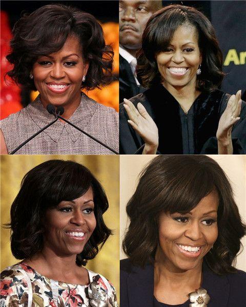 Michelle Obama Penteados: Ondas Médias