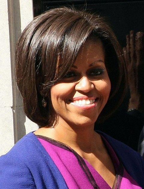 Michelle Obama Penteados: Bob corte de cabelo