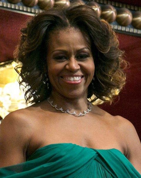 Michelle Obama Penteados: Ondas volumosos