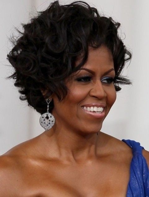 Michelle Obama Penteados: Ondas Shaggy