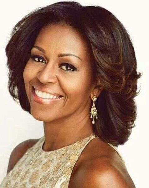 Michelle Obama Penteados: Radiant olhar