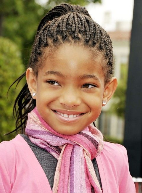 Willow Smith Penteados: Cornrows adoráveis