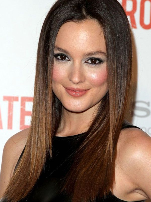 Corte de cabelo em linha reta elegante