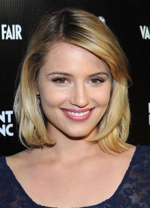 Dianna Agron Penteados: separaram-Side Médio Haircut