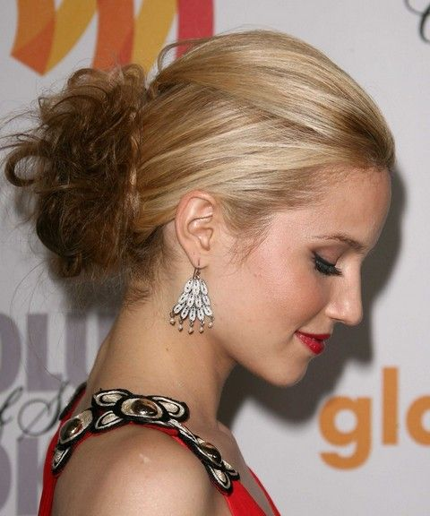 Dianna Agron Penteados: French Twist