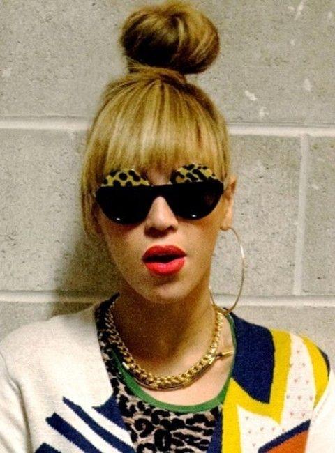 Beyonce penteados: Rock Style nó de cabelo