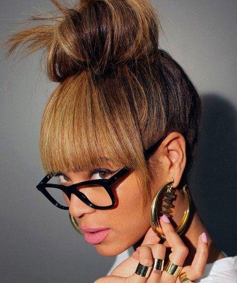 Beyonce penteados: Hair Adorável Knot