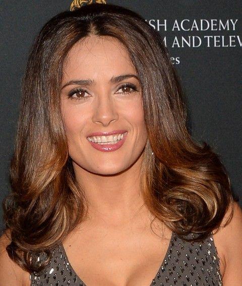Salma Hayek Penteados: 2014 Bouffant corte de cabelo