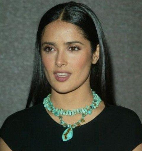 Salma Hayek Penteados: Corte de cabelo ultra-straight