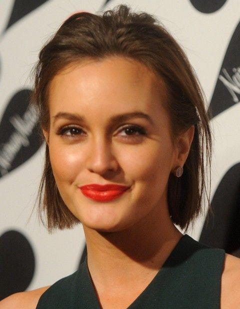 Leighton Meester Penteados: Corte de cabelo Liso Curto