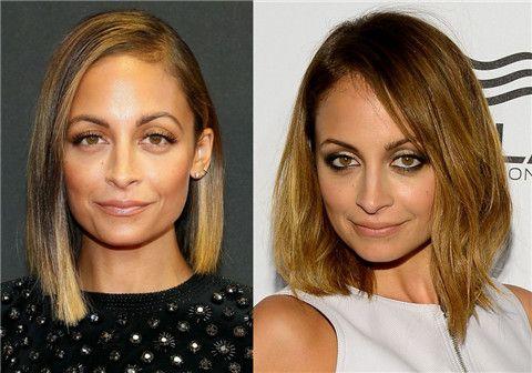 Nicole Richie Penteados: Corte de cabelo Médio
